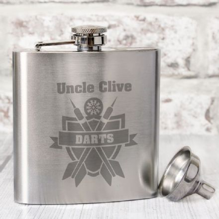 Personalised Hip Flask -  Darts